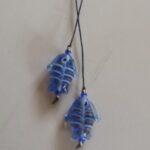 blue glass bead fish bookmark