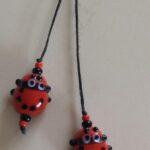 red glass bead ladybug bookmark